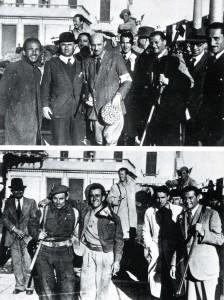 29 aprile 1945: partigiani, patrioti e soldati inglesi in piazza a Mirano