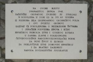 La targa commemorativa della strage
